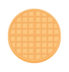 Belgium round waffle in flat style vector