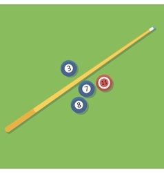 Billiards pill cue and vector