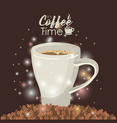 brown background with brightness of pile coffee vector image