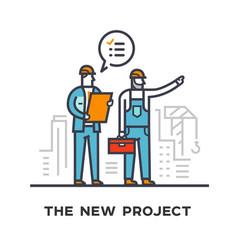 Builders discuss future construction vector