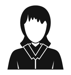 Businesswoman avatar icon simple style vector