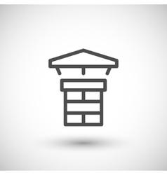 Chimney line icon vector
