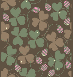 Clover flowers and leaves vector