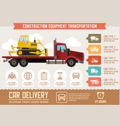 Construction equipment transportation vector
