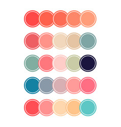 coral color sets vector image