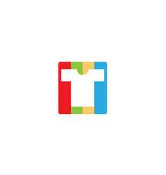 Creative t-shirt silkscreen logo symbol vector
