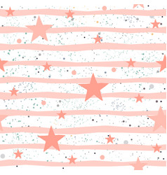 Cute seamless star pattern vector