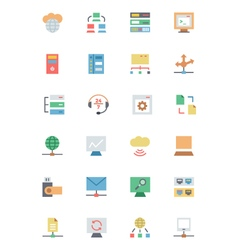 Database and Server Colored Icons 3 vector image