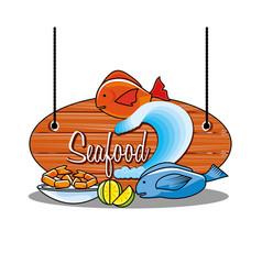 delicious set of sea food vector image