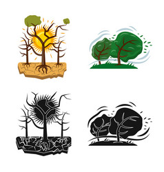Design of natural and disaster icon vector
