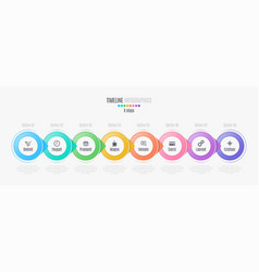 eight steps infographic timeline presentation vector image