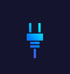 Electric plug icon geometric style vector