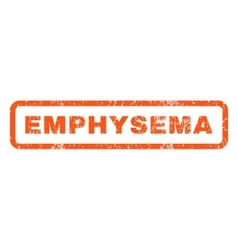 Emphysema Rubber Stamp vector image