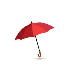 fashion sign umbrella isolated red opened umbrella vector image
