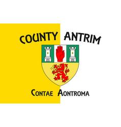 Flag county antrim in ulster ireland vector