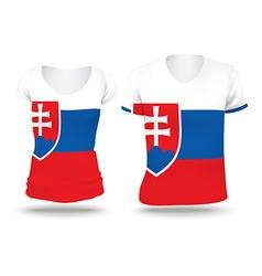 Flag shirt design of Slovakia vector image