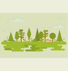 flat nature set vector image