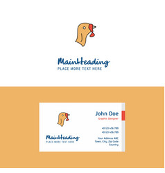 Flat turkey logo and visiting card template vector