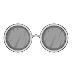 Glasses with black round lenses icon vector
