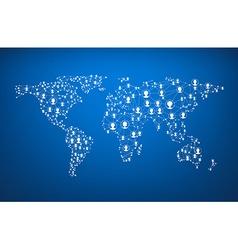 Global communications world map vector