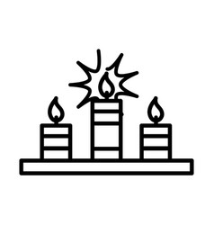 happy diwali india festival celebration candles vector image