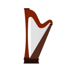 Harp flat icon vector