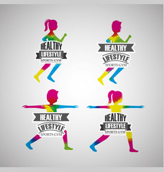Healthy lifestyle sport gym vector