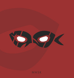 Hero mask wordmark logotype vector