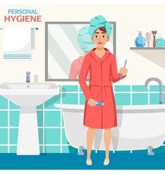 Hygiene Bathroom Interior Composition vector