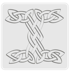 icon with celtic art and ethnic ornaments vector image