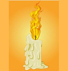 ignite fire woman coming out a burning hot vector image