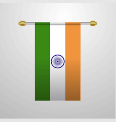 India hanging flag vector