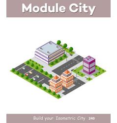 isometric urban skyscraper vector image