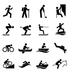 Leisure sports and outdoor activities vector