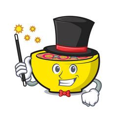 Magician soup union mascot cartoon vector