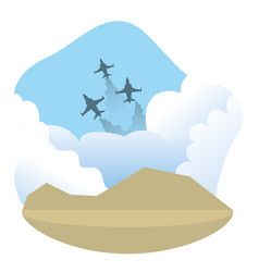 Military jets design vector