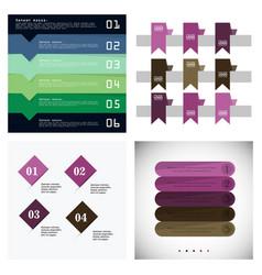 modern strips infographics 10 options banner for vector image