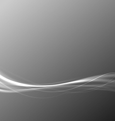 Modern transparent speed wave abstract gray vector image vector image