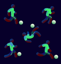 national soccer team style neon light soccer vector image