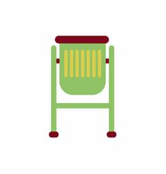 Park trash urn vector