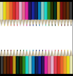 Pencils multicolored abstract background vector