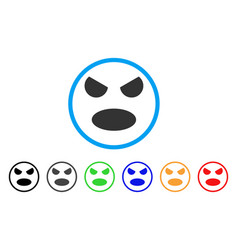 scream smile rounded icon vector image
