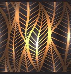 seamless luxury texture with stylized golden vector image