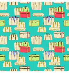 Seamless suitcases vector