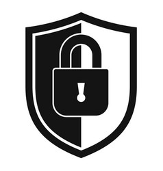 shield protect security icon simple style vector image