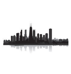 skyline city view cityscape silhouette urban vector image