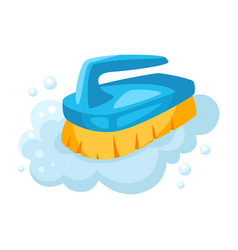 Soap foam brush vector