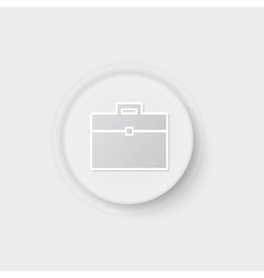 suitcase button vector image