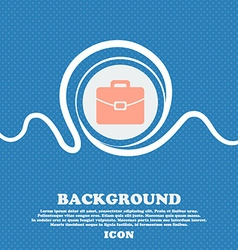 suitcase icon sign Blue and white abstract vector image