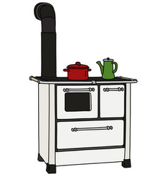 The old kitchen stove vector